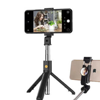 New K10 tripod selfie stick horizontal and vertical shot Bluetooth selfie stick selfie artifact mobile phone holder RB1209 K10