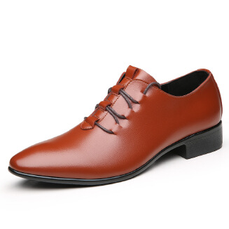 Men Comfortable Soft Leather Lace Up Business Formal Shoes S0001 JX0514