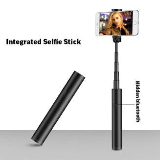 Magic Flute 601 Mini Aluminum Bluetooth Selfie Stick Portable Bluetooth Selfie Artifact RB1209 601