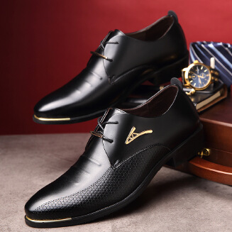 Men's business casual shoes pointed shoes JX0514 009 EID Shoes
