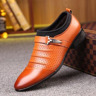 Men's business casual shoes pointed hollow men's shoes JX0514 11781 EID Shoes