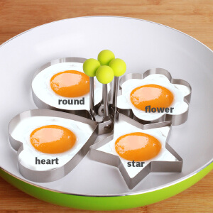 Thick stainless steel omelette fried poached egg mold JX0515 C4302