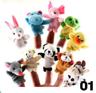 Cute mini animal finger couple Story good toy doll doll 10 packs JX0601 005
