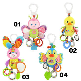 Newborn Baby Stroller Hanging Toy Cute Animal Doll Bed Hanging Plush Toy Rattle Bed Bell Activity Soft Toys Sleep Well Tool JX0601 656