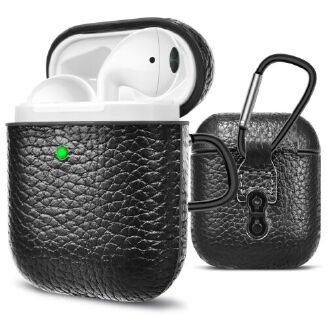 For AirPods Premium Leather Case Protective Cover Skin for Airpods Charging Case