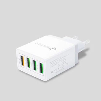 4 Port Fast Quick Charge QC 3.0 USB Hub Wall Charger Power Adapter