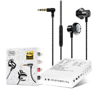 Metal Wired Headset In-ear Applicable Apple Xiaomi Mobile Computer Gaming Headset RB1209 F12
