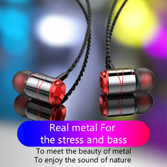 RD10 metal wired headset in-ear suitable for oppo vivo mobile computer K song game headset RB1209 RD10
