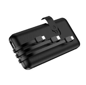 New self-contained three-wire charging treasure 10000mAh mobile power mobile phone holder charging treasure RB1209 C3001