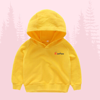 Yellow Hoodie for Kids- Phils Fabric - Winter special with perfee logo
