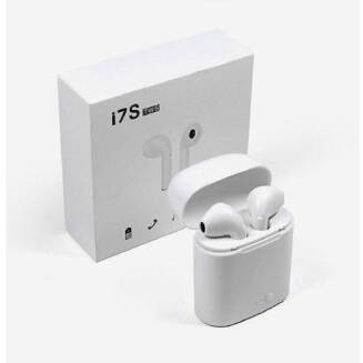 TWS i7s Double Dual Mini Earphone With Power Case - White - Lyseliv