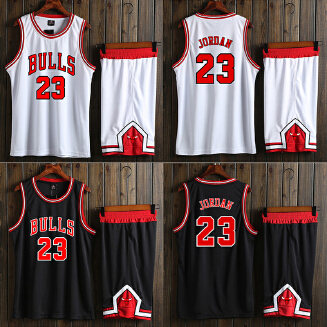 BULLS NBA men's basketball uniform with a number set training suit JX0604 001