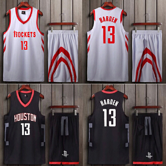 ROCKETS NBA men's basketball uniform with a number set training suit JX0604 002