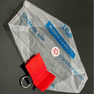 Portable CPR Resuscitator Mask Keychain Key Ring Emergency Face Shield Rescue