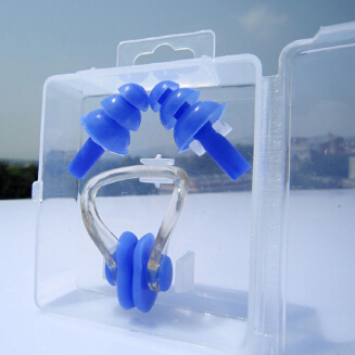 Soft Silicone Nose Clip Ear Plugs Set for Swimming Diving Kids Adults Unisex Set
