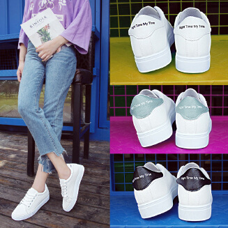 Low-top casual shoes Muffin platform shoes white shoes JX0424 C09