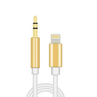 8pin to 3.5mm Male Jack Car AUX Audio Music Adapter Cable for iPhone 6S 7 8 Plus