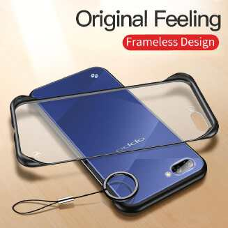 Oppo A3s Luxury Frameless Transparent Case Back Cover - Priyomama