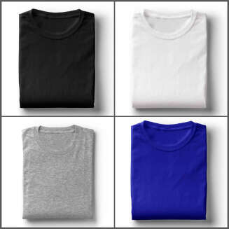 Solid Color Cotton Short Sleeve T-Shirt for Men - Perfee
