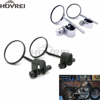 universal motorcycle 22mm 25mm handle bar Rearview Mirrors handlebar round side mirrors moto mirrors for cafe racer