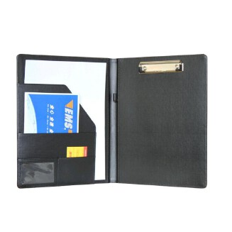 A4 Office School Supplies Notebooks Writing Pads Clipboard PU Leather Business Financial School Plastic With Name Card Holder