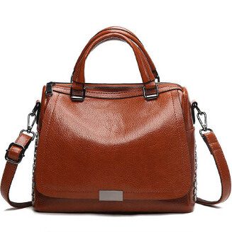 Fashion Leather Handbags Women Trending Messenger Shoulder Bag Solid Color Top-handle Bags