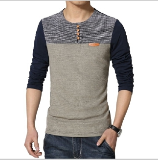 Male Fashion Casual Patchwork T-shirt