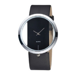 Simple and transparent women's watch creative hollow couple watch strap women's watch JX0620 07LED