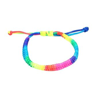 Fashion New Attractive Adjustable Rainbow Fluorescent Colors Woven