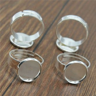 Generic WYSIWYG 15 Pieces Ring Base Wedding Rings For Men Jewerly Adjustable Polpular Inner Size 12mm Round