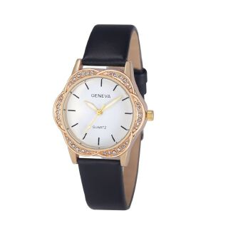 Fashion Streamce Shop Geneva Fashion Women's Watch Roman Numerals Leather Analog Quartz Wrist Watches