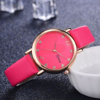 Fashion Ranicken Shop Fashion  Women Retro Design Leather Band Analog Alloy Quartz Wrist Watch
