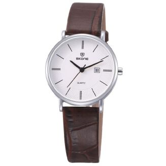 Fashion Skone Lovers' Quartz Watches Ultra-thin Case Casual Watch