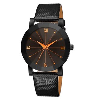 Fashion Siwenfe Shop Luxury Quartz Sport Military Stainless Steel Dial Leather Band Wrist Watch