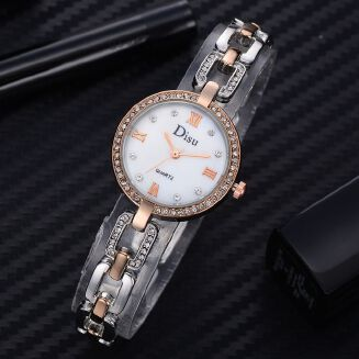 Fashion Ranicken Shop Rose Gold Plated Women's Elegant Rhinestone Bracelet Fashion Watches