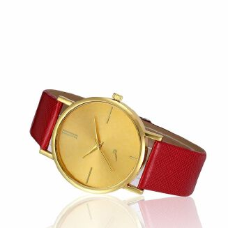 Fashion Africashop Wrist Watch Women Retro Digital Dial Leather Band Quartz Analog
