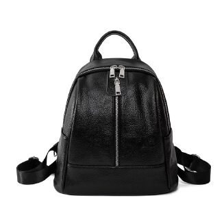 Luxury Famous Branded Design Women Black Backpack for Ladies Girls Vintage High Quality PU leather Backpack Bag Rucksack