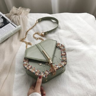 Women's bag sweet flower camera bag small square bag chain box bag shoulder Messenger bag JX0922 3517