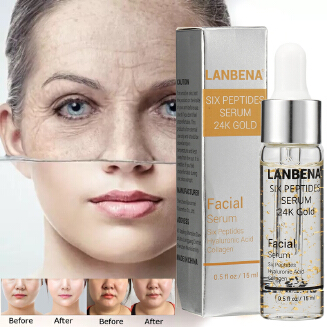 LANBENA Six Peptides Serum 24k Gold Serum - Cloud Shop BD