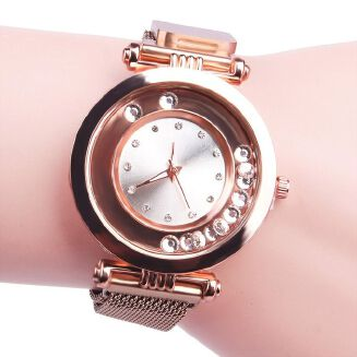Fashion Fashiom Women Watch Magnet Stone Belt Quartz Watch