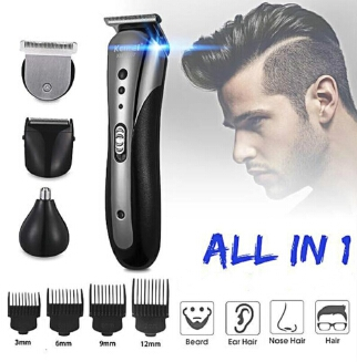 MJlife Orginal 3 in1 Rechargable Ear Nose Electric Shaver Beard Face Eyebrows Shaving Nose Hair Safe Shaver