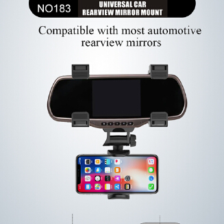 Adjustable Car Rearview Mirror Mount Mobile Phone Holder Stand Universal Navigation Support Automobile Data Recorder Bracket