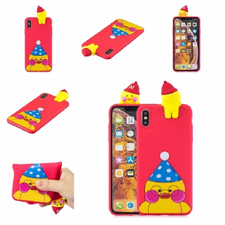 For OPPO A7 3D Cute Coloured Painted Animal TPU Anti-scratch Non-slip Protective Cover Back Case Style:OPPO A7