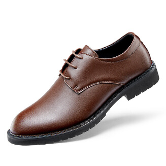 Men's Simple Formal Leather Shoes Lace up Business Derby Shoes
