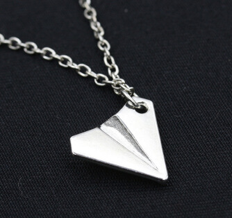 Simple necklace jewelry direction necklace paper aircraft wholesale
