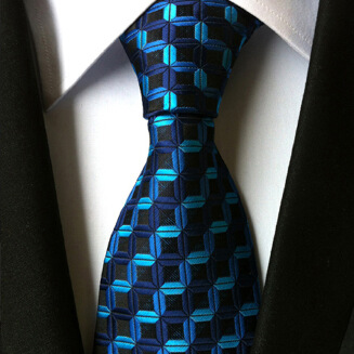 OFFER TIE Formal Ties For Men Classic Polyester Woven Plaid Dots Party Necktie Slim