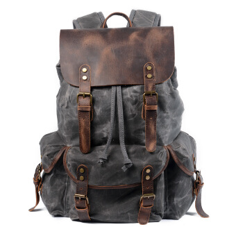 Casual student backpack retro men canvas backpack European and American style travel bag