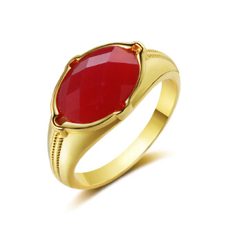 Artificial gemstone foreign trade manufacturers simple generous men plated platinum gold artificial gemstone cross-border exclusive