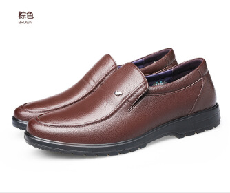 Middle-aged leisure business men's leather shoes Ranch
