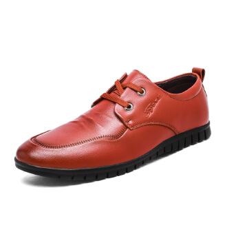 Men's low-top British comfortable casual shoes handmade business office simple casual leather shoes